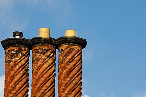image 7-695-7505 England, Three brick chimneys