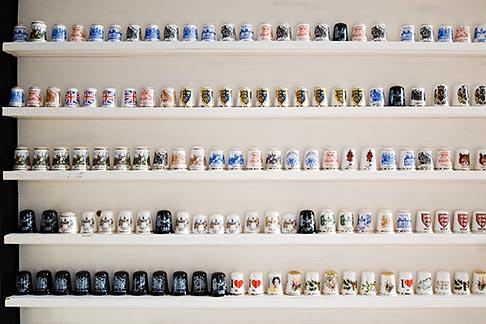 image 7-695-86 England, Chester, Souvenir mugs in shop display