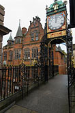 vertical stock photography | England, Chester, Eastgate clock, image id 7-695-9947