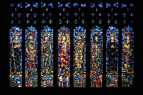 image 7-695-9993 England, Chester, Chester Cathedral, West Window, stained glass