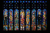 stained glass window stock photography | England, Chester, Chester Cathedral, West Window, stained glass, image id 7-695-9993