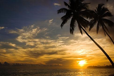 image 5-610-2800 Fiji, Viti Levu, Sunset near Korotogo