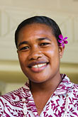 happy stock photography | Fiji, Viti Levu, Portrait, Fijian woman, image id 5-610-2833