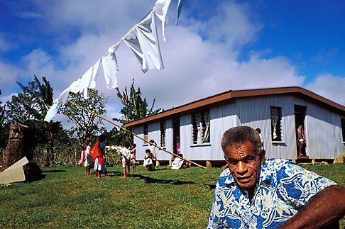 image 9-530-61 Fiji, Ratu Chief, Nausori village