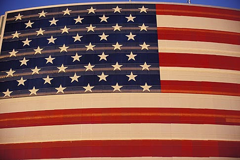 image 1-775-19 Flags, American Flag on office building