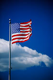 colour stock photography | Flags, American flag and sky, image id 2-420-54