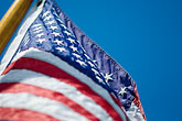 american flag and sky stock photography | Flags, American flag in wind, image id 6-440-5275