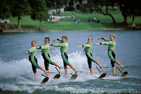 image 2-481-77 Florida, Winter Haven, Cypress Gardens, Water Ski Show
