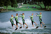 teamwork stock photography | Florida, Winter Haven, Cypress Gardens, Water Ski Show, image id 2-481-77