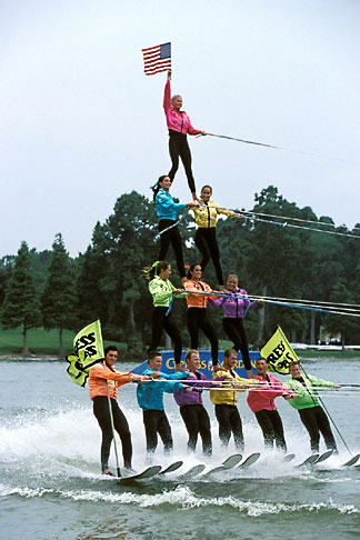 image 2-482-6 Florida, Winter Haven, Cypress Gardens, Water Ski Show