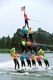 teamwork stock photography | Florida, Winter Haven, Cypress Gardens, Water Ski Show, image id 2-482-6