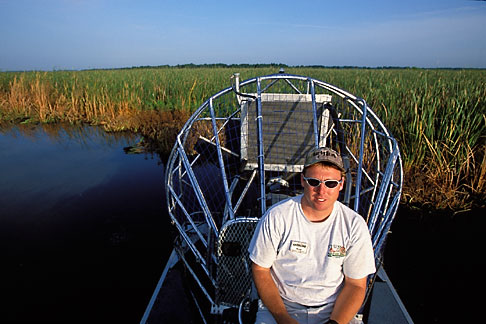 image 2-502-28 Florida, Orlando, Cypress Lake, Airboat
