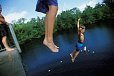 children swimming stock photography | Florida, Tallahassee area, Wakulla Springs State Park, divers, image id 2-530-28