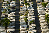 mobile homes in trailer park stock photography | Florida, Miami, Mobile homes in trailer park, Aerial view, image id 7-672-6807