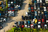 miami stock photography | Florida, Miami, Auto junkyard, Aerial view, image id 7-672-6824