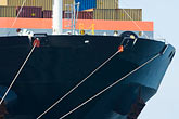commerce stock photography | Shipping, Container ship, bow view, image id 7-673-2146