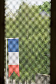 image 6-450-1016 France, Normandy, Bayeux, Flag and window