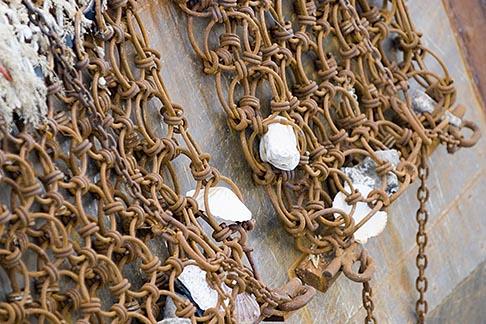 image 6-450-1095 France, Normandy, St Vaast La Hougue, Fishing nets