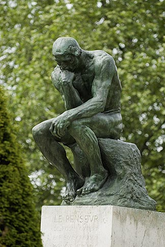 image 6-450-1227 France, Paris, Rodin Museum, The Thinker