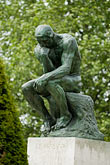 contemplation stock photography | France, Paris, Rodin Museum, The Thinker, image id 6-450-1227