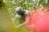 close up stock photography | France, Paris, Rodin Museum, The Thinker, image id 6-450-1234