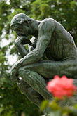 close up stock photography | France, Paris, Rodin Museum, The Thinker, image id 6-450-1236
