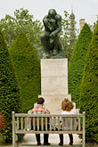 pensive stock photography | France, Paris, Rodin Museum, The Thinker, image id 6-450-1238