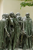 ville de paris stock photography | France, Paris, Rodin Museum, The Burghers of Calais, image id 6-450-1303