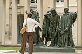 ville de paris stock photography | France, Paris, Rodin Museum, The Burghers of Calais, image id 6-450-1308