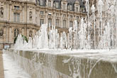 water stock photography | France, Paris, Hotel de Ville, Fountain, image id 6-450-155