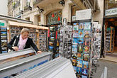 franzosen stock photography | France, Paris, Souvenir shopping, image id 6-450-164