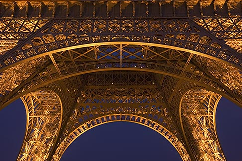 image 6-450-17 France, Paris, Eiffel Tower at night