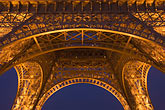 close up stock photography | France, Paris, Eiffel Tower at night, image id 6-450-17