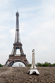and eiffel tower stock photography | France, Paris, Eiffel Tower and model, image id 6-450-403