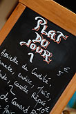 plat du jour stock photography | France, Paris, Menu, image id 6-450-529