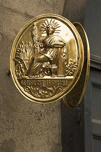 image 6-450-5750 France, Paris, Medallion of Liberte