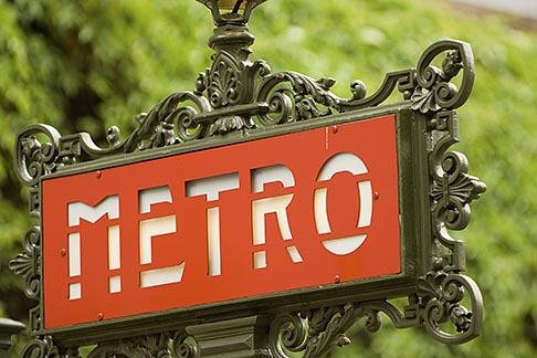 image 6-450-5755 France, Paris, Metro sign