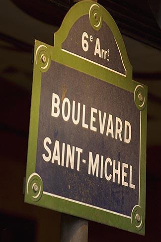 image 6-450-5779 France, Paris, Boulevard Saint Michel