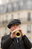 musical instrument stock photography | France, Paris, Street band soprano sax player, image id 6-450-5805