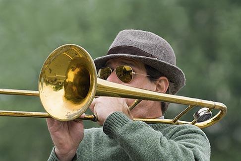 image 6-450-5810 France, Paris, Street band trombone player