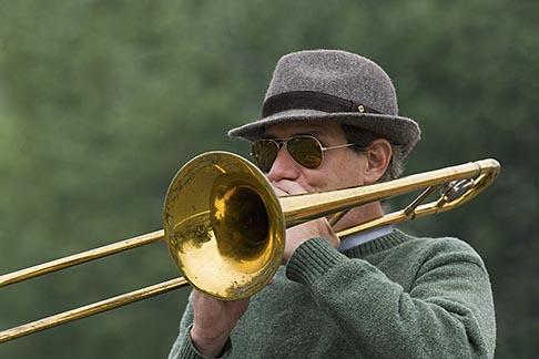 image 6-450-5816 France, Paris, Street band trombone player
