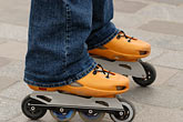 upright stock photography | Recreation, Rollerblades, image id 6-450-585