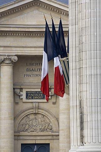 image 6-450-5874 France, Paris, Pantheon, French flags