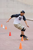 slalom stock photography | Recreation, Skateboarder, image id 6-450-5892