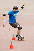 slalom stock photography | Recreation, Skateboarder, image id 6-450-5894