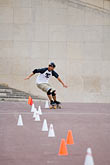 slalom stock photography | Recreation, Skateboarder, image id 6-450-5931