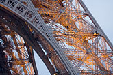 illuminated stock photography | France, Paris, Eiffel Tower detail, image id 6-450-5980