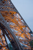 illuminated stock photography | France, Paris, Eiffel Tower detail, image id 6-450-5993