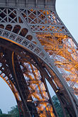 night stock photography | France, Paris, Eiffel Tower detail, image id 6-450-5994