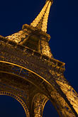 eiffel tower detail stock photography | France, Paris, Eiffel Tower at night, image id 6-450-6077